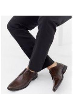 ASOS DESIGN - Braune Derby-Schuhe aus Leder - Braun(95025412)