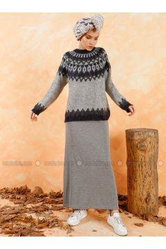 Gray - Unlined - Skirt - Muni Muni(110330519)