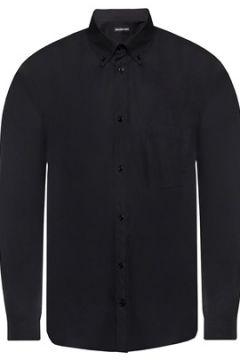 Balenciaga Erkek Siyah Düğmeli Yaka Gömlek 39 IT(113464461)