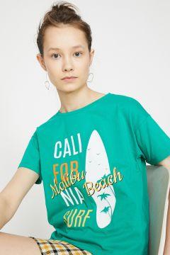 Koton Yeşil Baskılı T-Shirt(122400835)