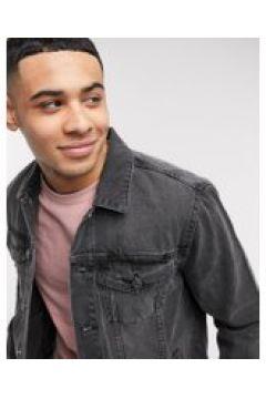 New Look - Giacca di jeans grigio slavato(120240027)