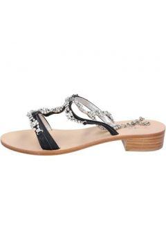 Sandales Capri sandales noir cuir AK618(115443127)