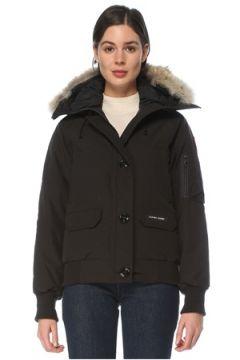 Canada Goose Kadın Chilliwack Siyah Kapüşonlu Bomber Mont S EU(126218081)