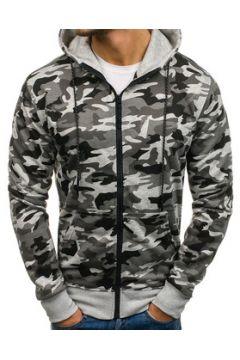 Veste Monsieurmode Veste camouflage zippée Veste M461 gris clair(115404234)