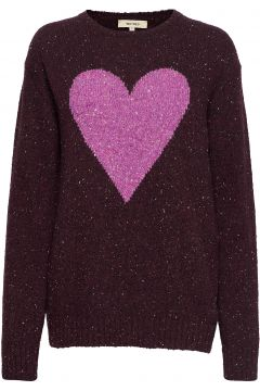 Cecile Heavy Heart Strickpullover Lila WHYRED(114152232)