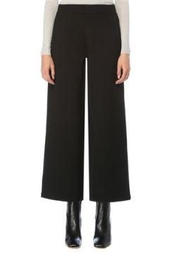 Beymen Collection Kadın Siyah Bol Paça Çelik Örme Pantolon S(123319703)