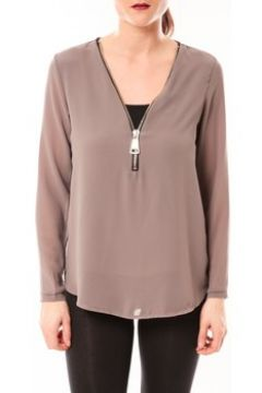 Blouses Vera Lucy Chemisier Simple Marron(115665906)