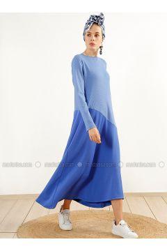 Indigo - Crew neck - Unlined - Dresses - Muni Muni(110313151)