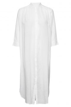 Laurel Shirtdress Gauze Kleid Knielang Weiß MOSHI MOSHI MIND(114164555)