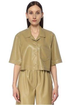 Nanushka Kadın Rhett Haki Kamp Yaka Ceket M EU(116776506)