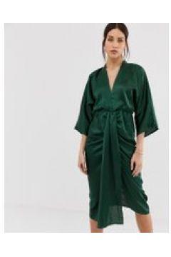 AX Paris - Vestito midi in raso-Verde(120322835)