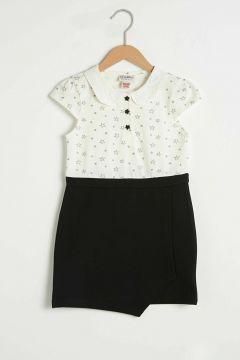Çocuk Kız Çocuk Baskılı Elbise(127690496)