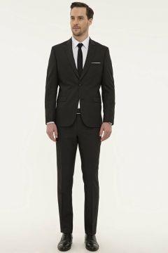 Pierre Cardin Slim Fit Füme Takım Elbise(124927274)