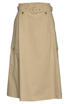 Adalinegz Skirt Ms20 Knielanges Kleid Beige GESTUZ(109112843)