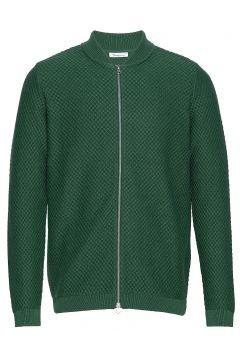 Field Zip Cardigan Knit - Gots/Vega Cardigan Strickpullover Grün KNOWLEDGE COTTON APPAREL(114153907)