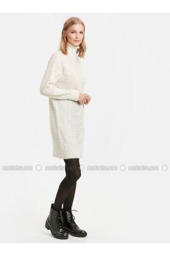 Beige - Printed - Dresses - LC WAIKIKI(110320655)
