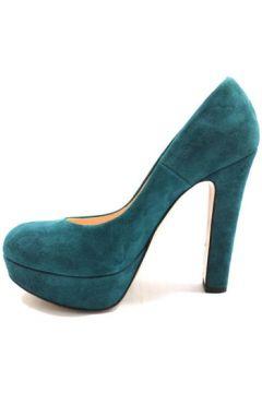 Chaussures escarpins Islo escarpins bleu daim vert ky236(88526973)