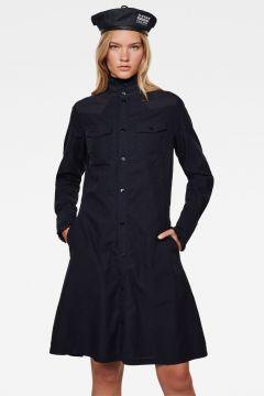 G-Star RAW Women Western Slim Frill Dress Dark blue(120980699)