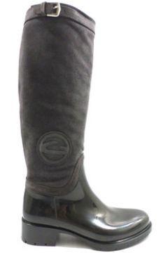 Bottes Alberto Guardiani bottes gris caoutchouc noir daim ky250(115395262)