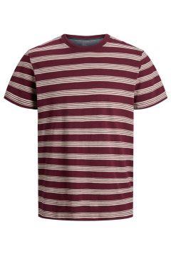 JACK & JONES Randig Rundringad T-shirt Man Lila(107856130)