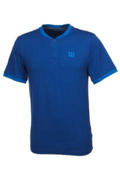 T-shirt Wilson Henley t shirt mc bleu(127855413)