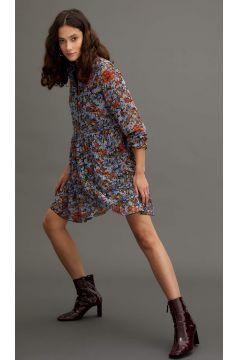 DeFacto Kadın Balon Kollu Relax Fit Dokuma Elbise(125933589)