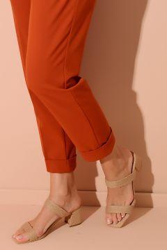Shoes Time Bej Hasır Kadın Terlik(122850317)