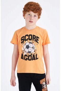 DeFacto Erkek Çocuk Hologram Baskılı Kısa Kollu T-shirt(119060130)