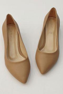 Marjin Kadın Apunte Klasik Topuklu Ayakkabı Vizon(122933804)