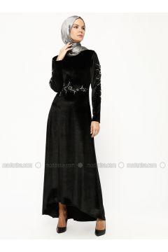 Black - Crew neck - Unlined - Dresses - BÜRÜN(110316594)
