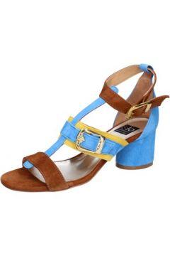 Sandales Islo sandales bleu daim marron BZ330(115398905)