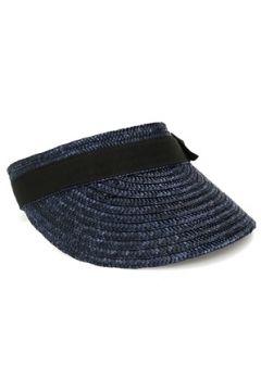 Helene Berman London Kadın Lacivert Bantlı Hasır Şapka EU(114438715)