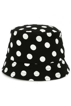 Helene Berman London Kadın Lacivert Puantiye Desenli Kanvas Şapka Siyah EU(114438707)