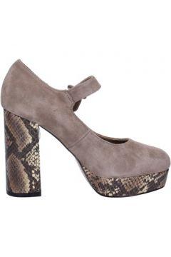 Chaussures escarpins Emanuélle Vee escarpins beige daim BX385(115442548)