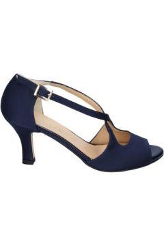 Sandales Olga Rubini sandales bleu satin BS119(115443085)