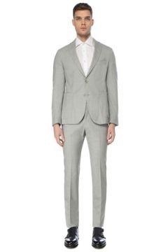 Pal Zileri Erkek Gri Yün Takım Elbise 46 IT(126433462)