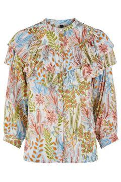 Y.A.S Yasbotanica Overhemd Met Lange Mouwen Dames Beige(115571123)