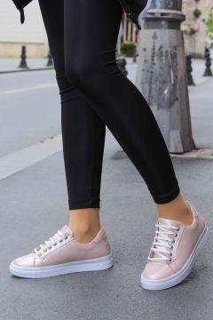 FAST STEP Deri Pudra Simli Kadın Sneaker Ayakkabı 864za1005(116821040)