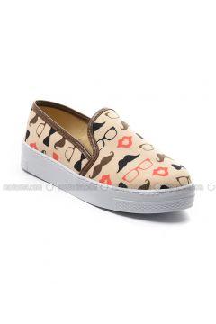 Beige - Flat - Flat Shoes - Sapin(110325799)