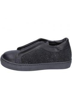 Chaussures enfant Holalà sneakers noir cuir daim BT374(115442806)