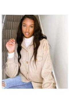 Missguided Tall - Camicia giacca morbida beige(120389559)