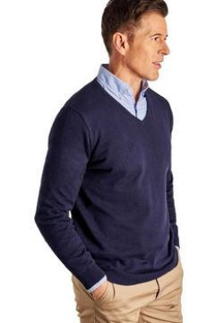 Pull Woolovers Pull à col V Homme Coton peigné(127976410)