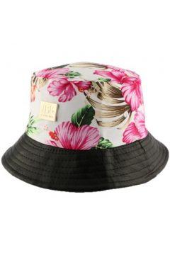 Chapeau Jbb Couture Bob florale Ecru avec revers similli cuir(115456007)
