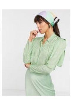 & Other Stories - Camicia verde menta con dettagli sulle spalle(120368145)