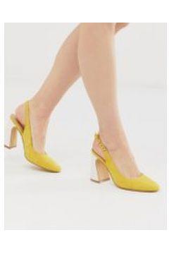 Co Wren - Schuhe mit Fersenriemen und abgerundetem Blockabsatz - Gelb(86708903)