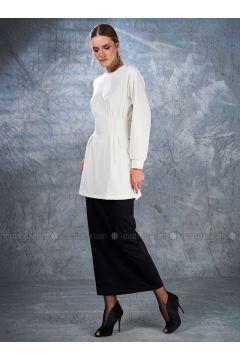 Crew neck - Ecru - Sweat-shirt - Eda Atalay(110331502)