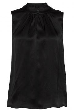 Double Silk - Prosi Top Bluse Ärmellos Schwarz SAND(117936778)