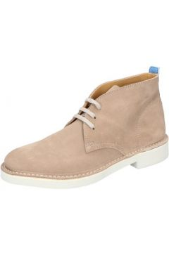 Boots Moma bottines beige daim BY772(115401592)