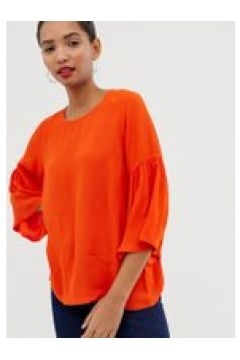 Just Female - Garner - Bluse mit Trompetenärmeln - Orange(83098223)