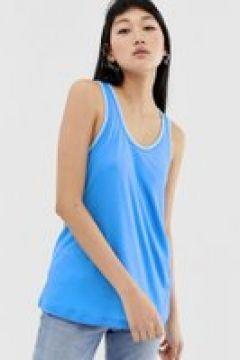 Calvin Klein - Tanktop mit kontrastierendem Ausschnitt - Blau(92550775)